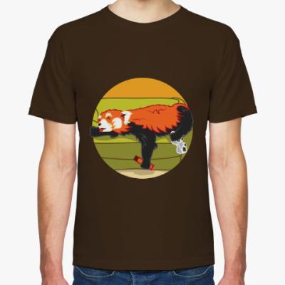 Футболка Красная панда и шоколад