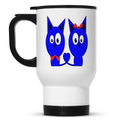 Кружка-термос Влюбленные котики