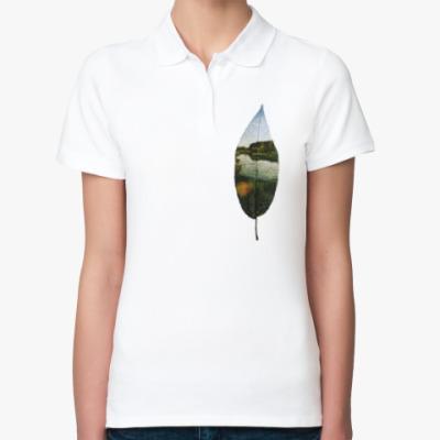 Женская рубашка поло Листовой пруд