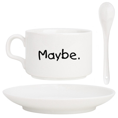 Кофейный набор  Maybe. Maybe not.