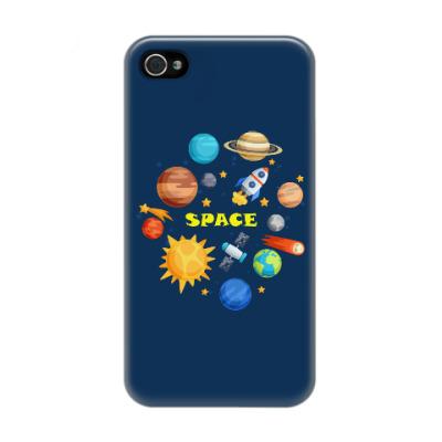 Чехол для iPhone 4/4s Space (Космос)