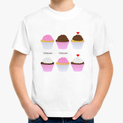 Детская футболка Капкейки