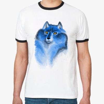 Футболка Ringer-T Ледяной волк