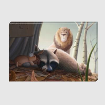 Холст Похищение спящего енота