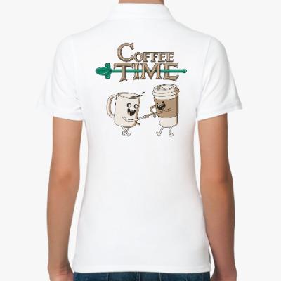 Женская рубашка поло Coffee Time