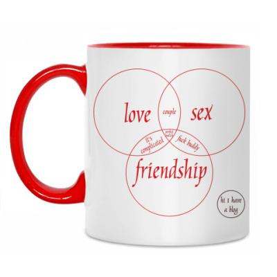 Кружка LOVE, SEX, FRIEND
