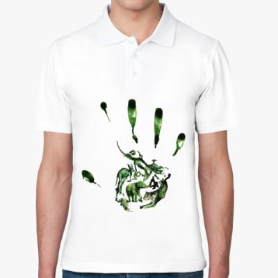 Рубашка поло Зеленый отпечаток
