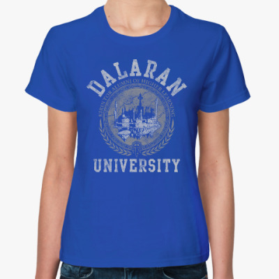 Женская футболка Университет Даларана. WoW