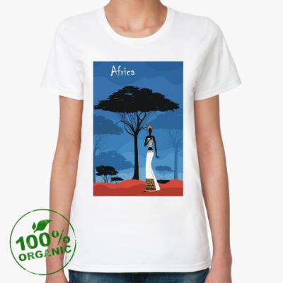 Женская футболка из органик-хлопка африка