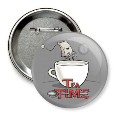 Значок 75мм Tea Time
