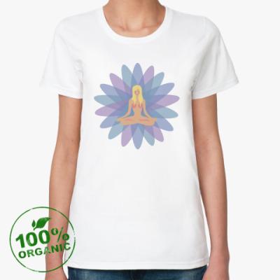 Женская футболка из органик-хлопка Йога