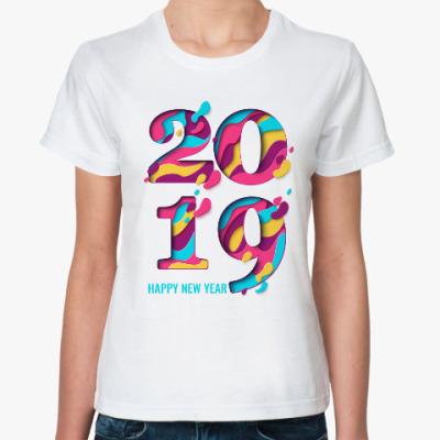 Классическая футболка Год кабана 2019
