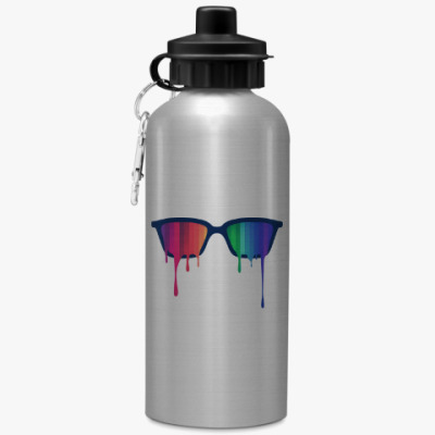 Спортивная бутылка/фляжка Хипстер: очки