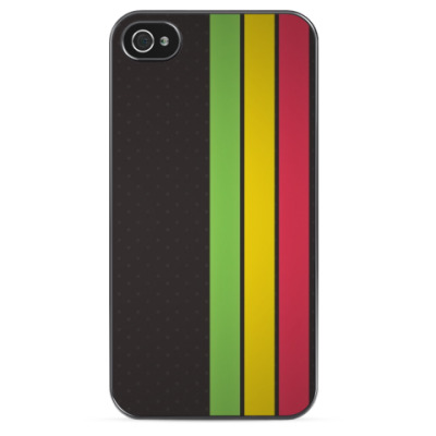 Чехол для iPhone Green, Yellow, Red