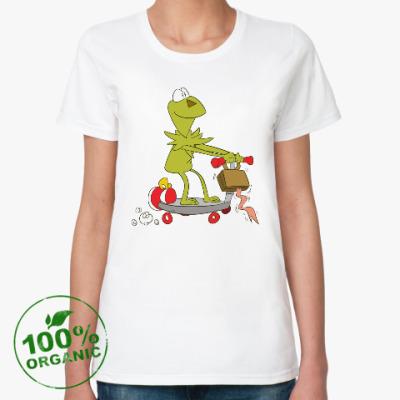 Женская футболка из органик-хлопка Kermit the Frog
