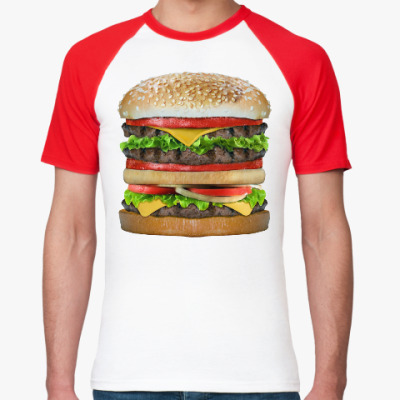 Футболка реглан Вкусняшка гамбургер