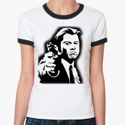Женская футболка Ringer-T  Криминальное чтиво