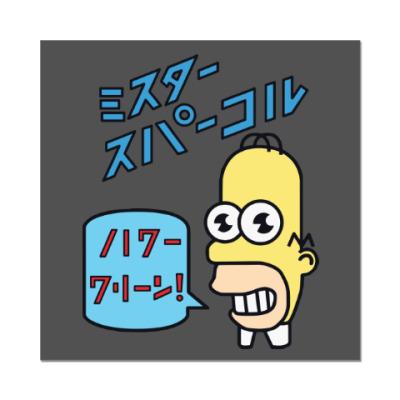 Наклейка (стикер) Симпсоны: Японский Гомер