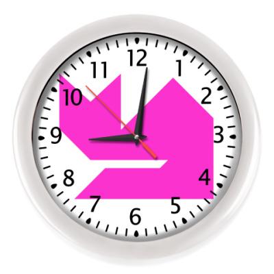Настенные часы Кошка танграм