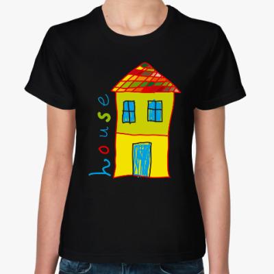 Женская футболка Дом