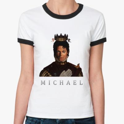 Женская футболка Ringer-T Michael Jackson (MICHAEL 201