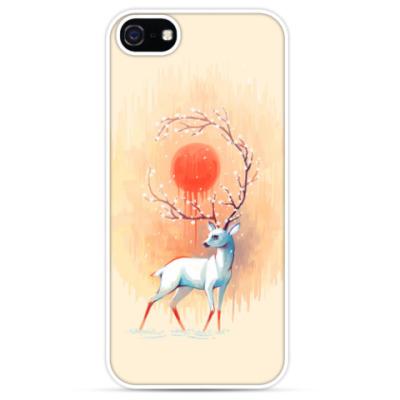 Чехол для iPhone Дух весны белый олень