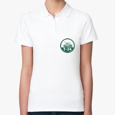 Женская рубашка поло Танк Т-34