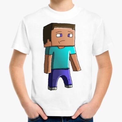 Детская футболка Minecraft Steve