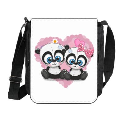 Сумка на плечо (мини-планшет) Маленькие панды