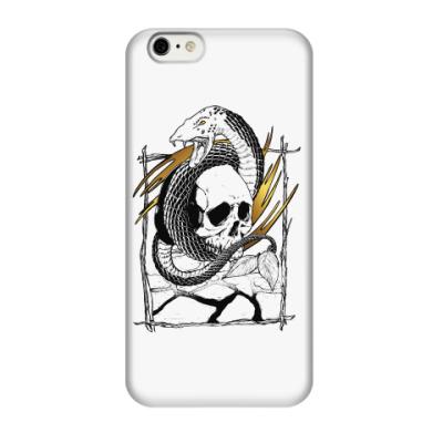 Чехол для iPhone 6/6s Змей с черепом