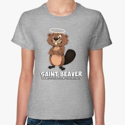 "Женская футболка Женская футболка ""St. Beaver"""