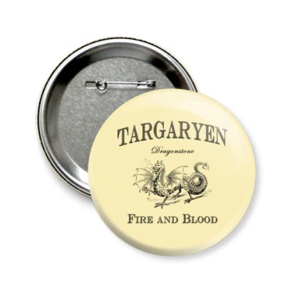 Значок 58мм Targaryen