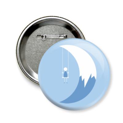 Значок 58мм Качели на Луне