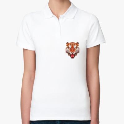 Женская рубашка поло Тигр