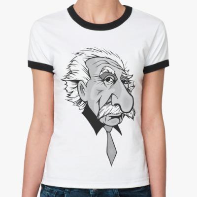 Женская футболка Ringer-T Эйнштейн