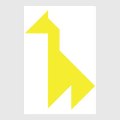 Постер Жираф танграм