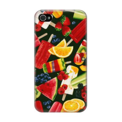 Чехол для iPhone 4/4s  фрукты