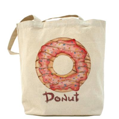 Сумка сладкая иллюстрация с пончиком