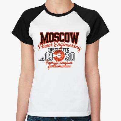Женская футболка реглан МЭИ - MPEI