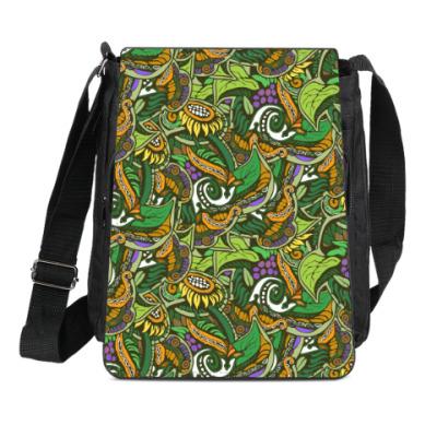 Сумка-планшет растительный тропический цветочный фон