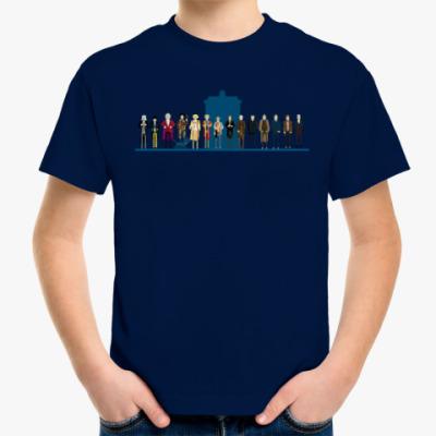 Детская футболка Доктор Кто 8 бит