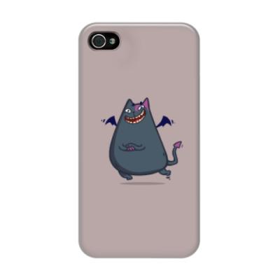 Чехол для iPhone 4/4s Бесокот — Пятничный Котик №43