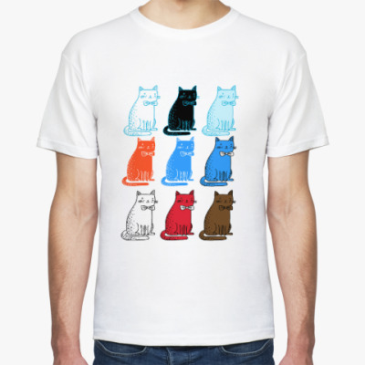 Футболка Разноцветные коты