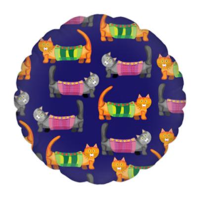 Подушка Забавные Коты в теплых попонах :)