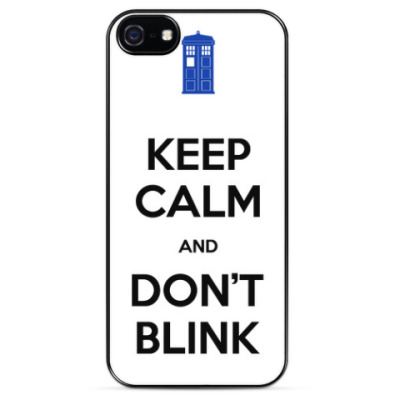 Чехол для iPhone KEEP CALM and DON'T BLINK