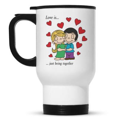 Кружка-термос LOVE IS
