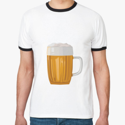 Футболка Ringer-T Кружка пива