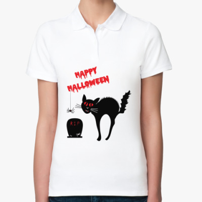 Женская рубашка поло Ужасы Хэллоуин
