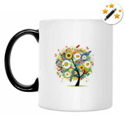 Кружка-хамелеон Разноцветное дерево