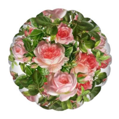 Подушка Розовый букет